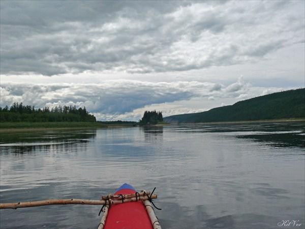 Река Олёкма после кордона Бедердях