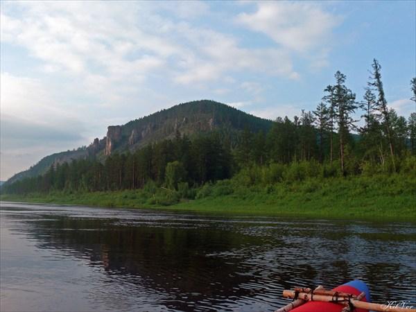 Река Олёкма в нижнем течении