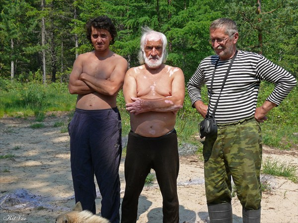 Встреча с обитателями зимовья на Тумуллуре