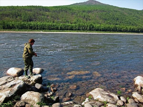 Рыбалка на притоке Белян