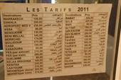 Стоимость автобусных билетов в офисе Супратурс