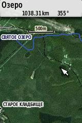 Та же карта, совмещенная с космоснимком Google