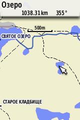 Фрагмент карты (Соловецкие острова)