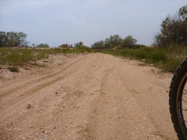 Дорога по Витязевской косе