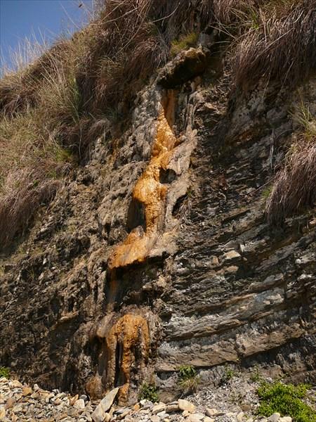 Скальные натёки. Анапа, высокий берег