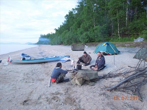 Вечерняя беседа на песке