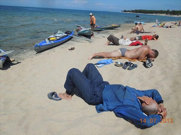 Отдых на пляже в Горячинске