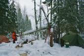 мы свернули с дороги и уже в сумерках поставили лагерь в лесу