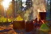 Ужин в лагере
