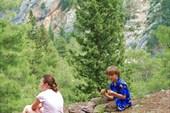 Оставновка на краю каньона