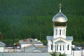 Церковь на территории исправительно-трудовой колонии.