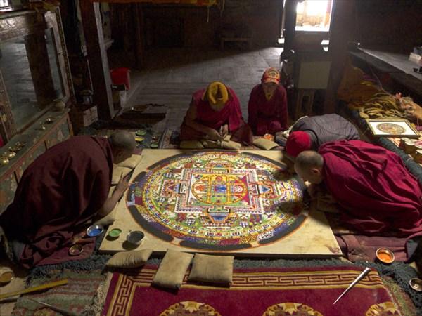 Монастырь Рангдум, в зале медитаций