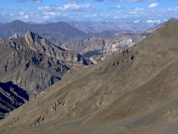 Вид с Канжи Ла в сторону Каракорума