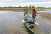Верховья р.Кинемур     в озёрах мало воды