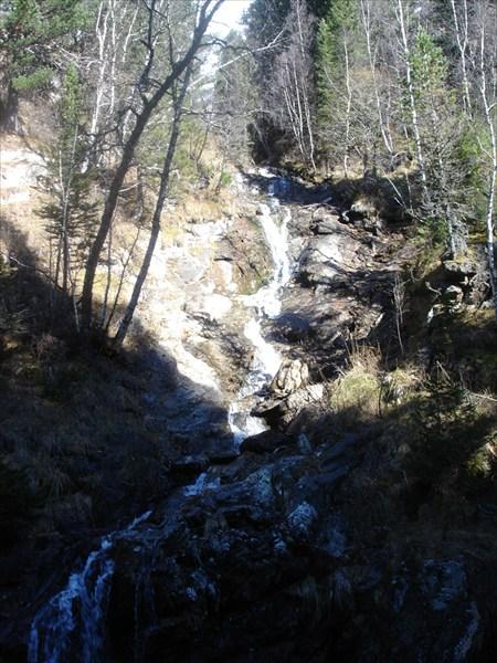 """Водопад """"Егерьский""""  каньон р. Иня."""