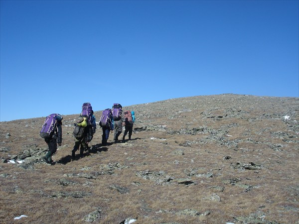 Последние метры подъёма на вершину г. Горький Белок