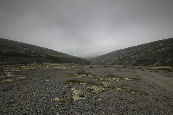 Умбозерский перевал в тумане.