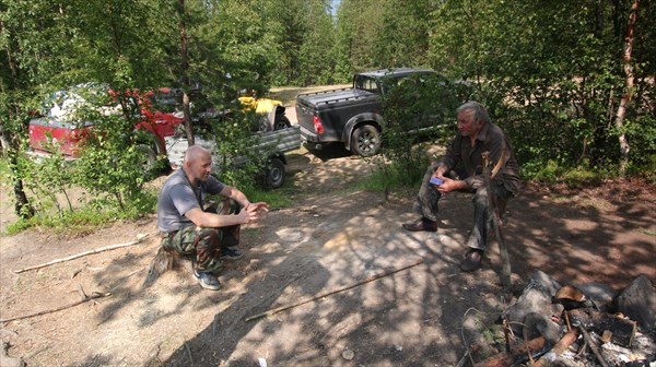 Встреча с экипажем Вадима Таукина на р. Верхняя Куземка