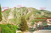 гора Силпиус - вид с пояснениями