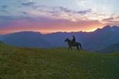 Чабан на перевале Каракыз