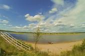 Река Варзуга в одноименном поселке