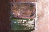 Табличка на главном резервуаре паровоза Ов