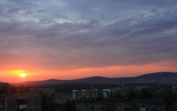 Вид на гору Волчиха. Первоуральск