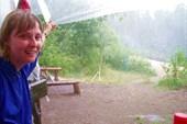 17 июля 2006г. Река Лух. Стоянка `Дятел`, проливной дождь.
