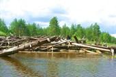 19 июля 2006г. Река Лух. Завал в районе Старой Почайки.