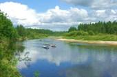 21 июля 2006г. Река Лух. Вид на реку со стоянки «Ляпота».