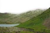 Стоянка у Араданских озер. Вечер. Снег остался только на горах.