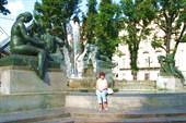 Турин. Фонтан на площади Сольферино