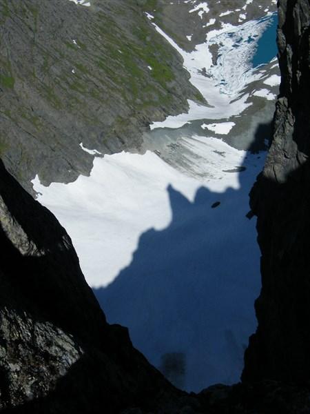 Ледник Гофмана с вершины Сабли