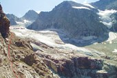 Спуск с ледника Даут на боковую марену