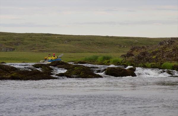 Порожек перед верхним каньоном. В большую воду был бы красивее..