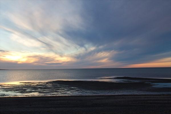 Закат на Карском море.