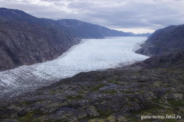 Язык ледника Kuussuup.