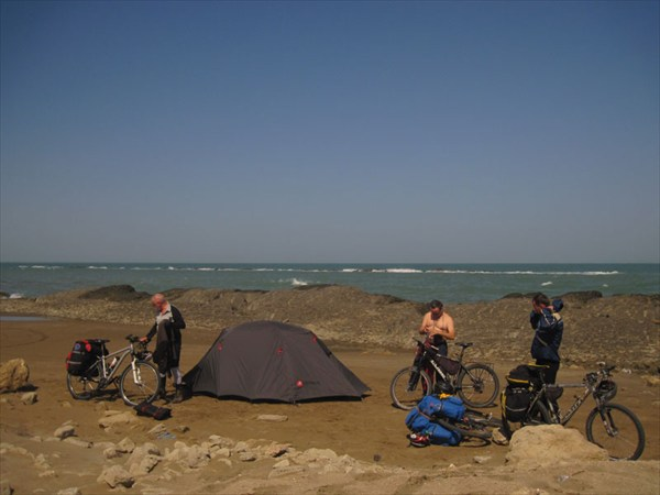 Ночевка на берегу Каспия