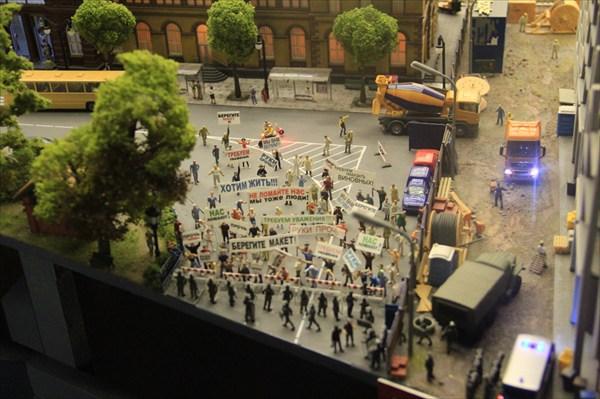 Митинг в защиту макета на улицах миниРоссии