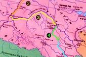 Маршрут сплава по Янцзы и Меконгу