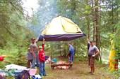 Палатку сушим