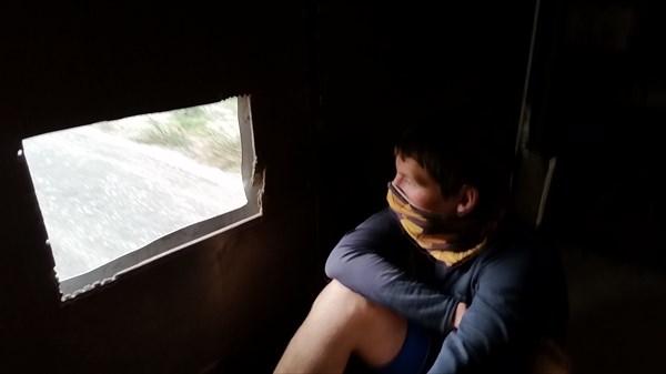 Из окна фургона