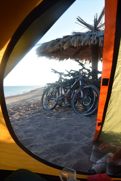 Утренний вид из палатки