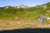 Наш лагерь около охотничей хаты