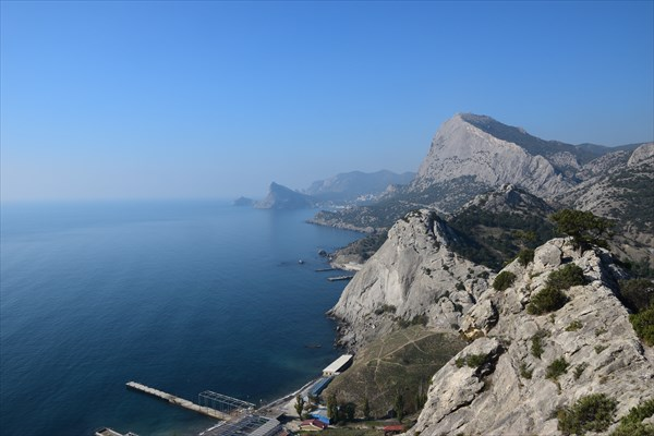 Вид с верхотуры Генуэзской крепости