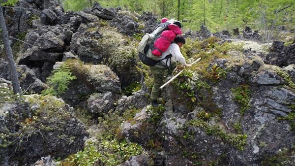 Пересечение поля лавы