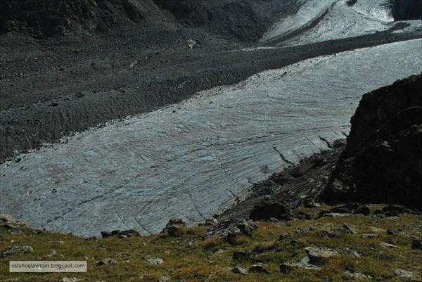 Язык ледника Адыр-Су