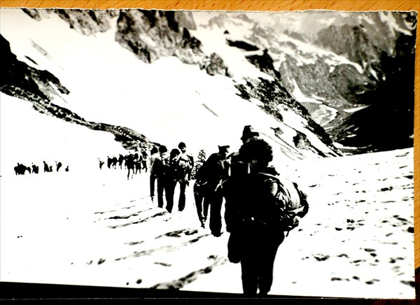 Спуск с Клухора вк Южному приюту в 1985-м