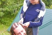 Креативная причёска `утро в лесу`