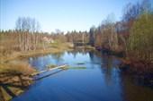 Река Пижма с ж/д моста